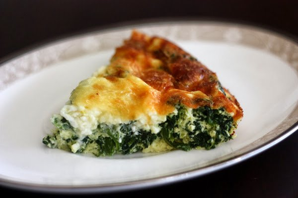 Spinach and Feta Crustless Quiche