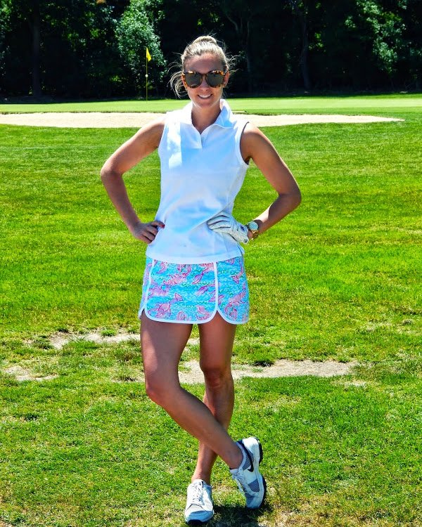 Lilly Pulitzer golf outfit