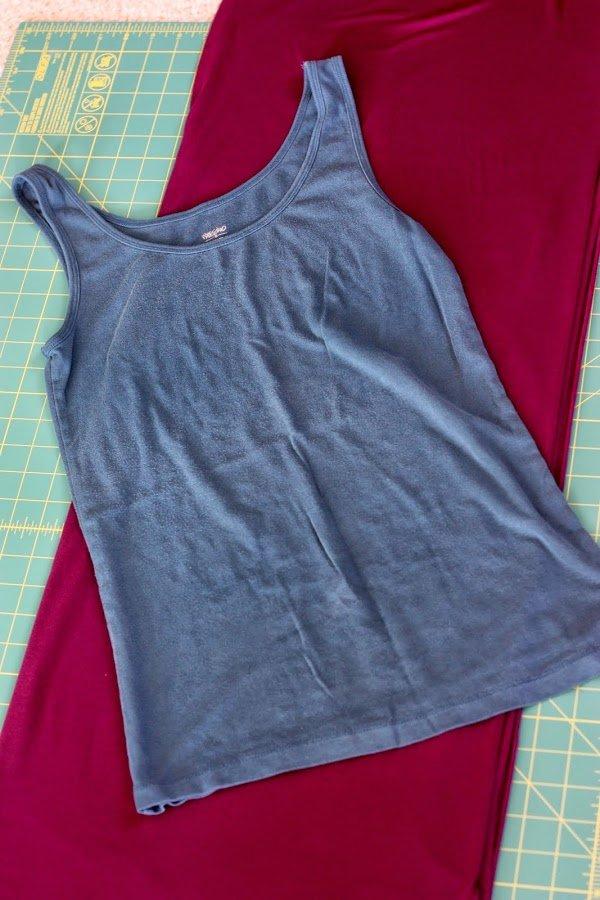 #DIY maxi dress #refashion #tutorial - materials - www.honestlymodern.com