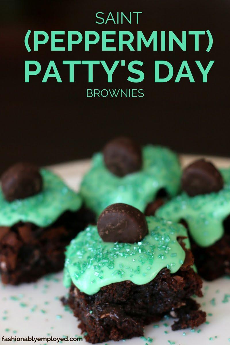 FashionablyEmployed.com   Saint (Peppermint) Patty's Day Brownies