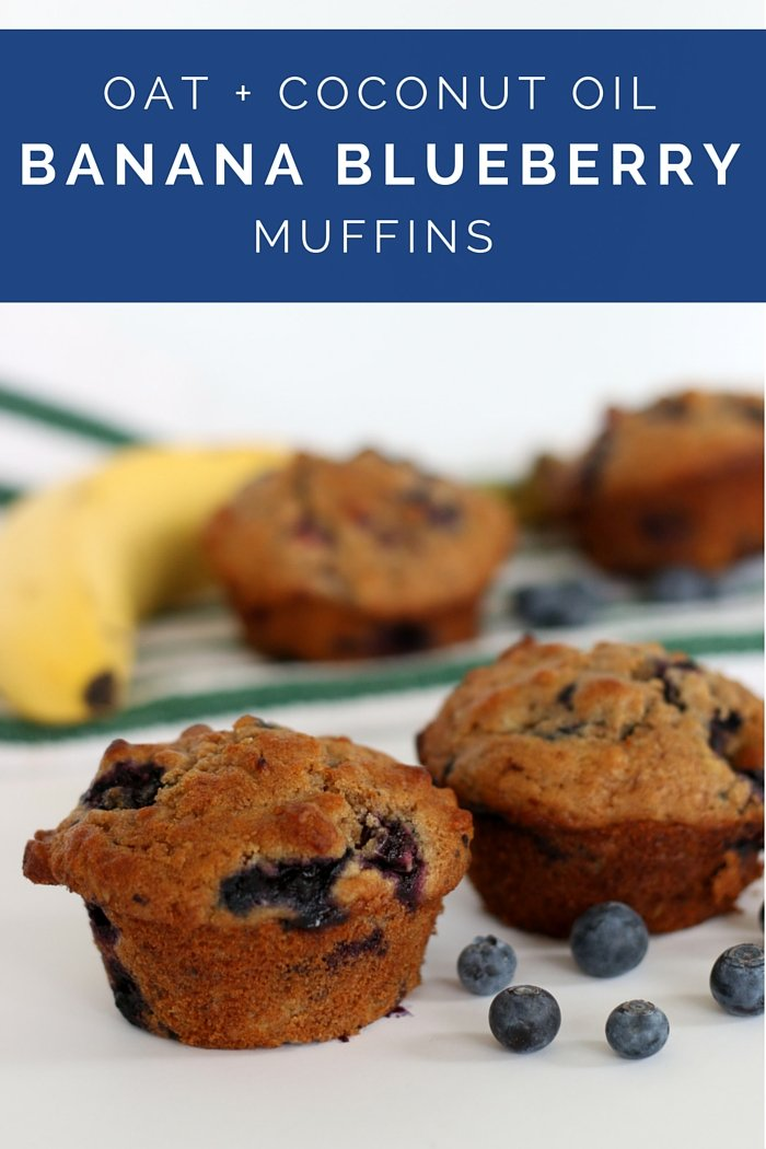 FashionablyEmployed.com | Blueberry Banana muffins with whole wheat, oats, and coconut oil. | Make ahead breakfast idea to streamline the morning. | Working mom blog for busy moms long on ambition and short on time, balancing career, family, style and a little time for ourselves.