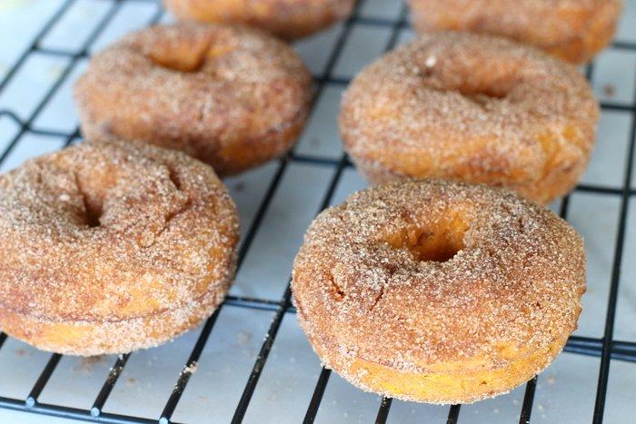 FashionablyEmployed.com   Easy Baked Pumpkin Donut with Cinnamon and Sugar, breakfast, dessert, recipe