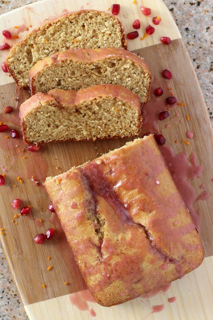 Kids in the Kitchen ~ Orange Poundcake with Pomegranate Glaze