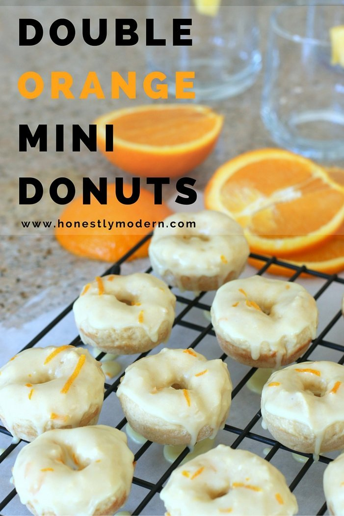 Try this fun and easy orange pineapple mocktail paired with fun orange baked donuts with orange glaze. It's all from scratch but made with simple ingredients and tricks any beginner baker can master. Click through for details!