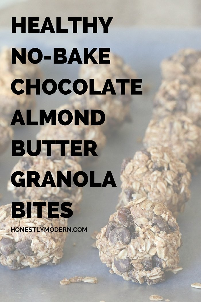 These healthier alternatives to granola bars are easy to make and have much less sugar than regular granola bars. Click through for the recipe!