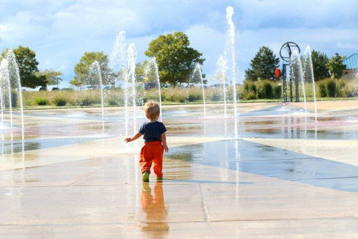 Playing in water at St Joseph Michigan