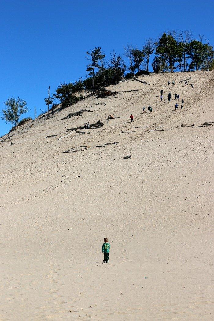Warren Dunes Climbing Up