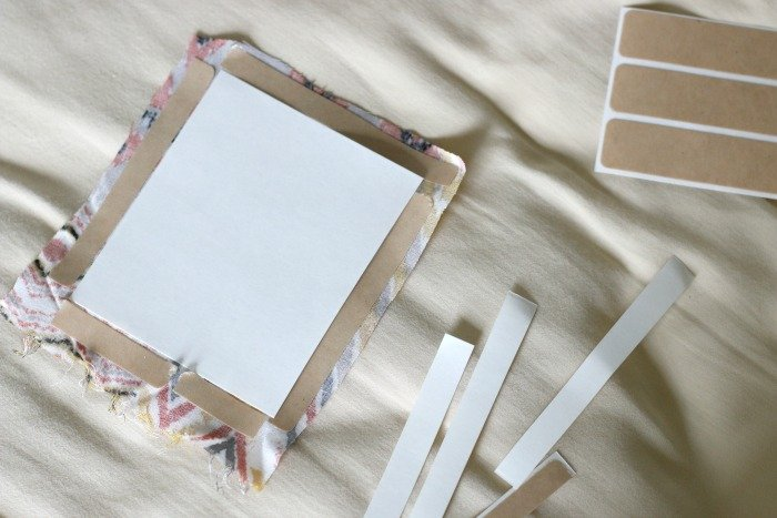 adding bonding strips to DIY pocket to create hem around edge