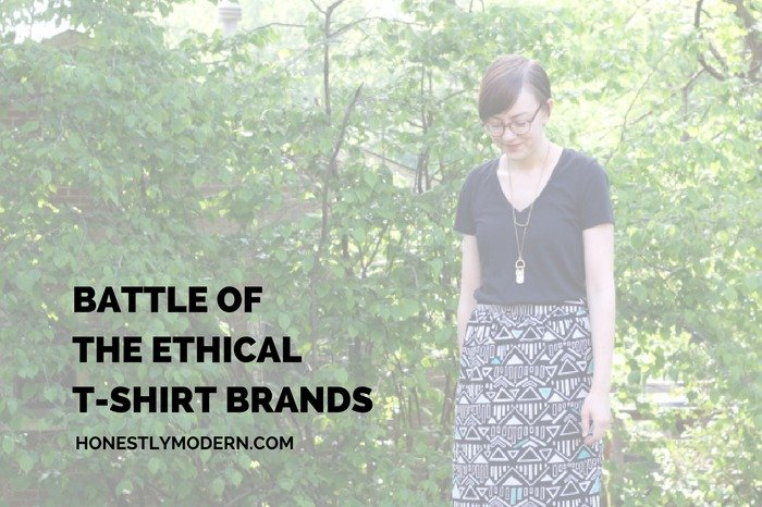 Interested in finding the best ethical t-shirt brands. Hear from two sustainable bloggers about their favorite brand and decide for yourself which brand wins the Battle of the (Ethical T-Shirt) Brands