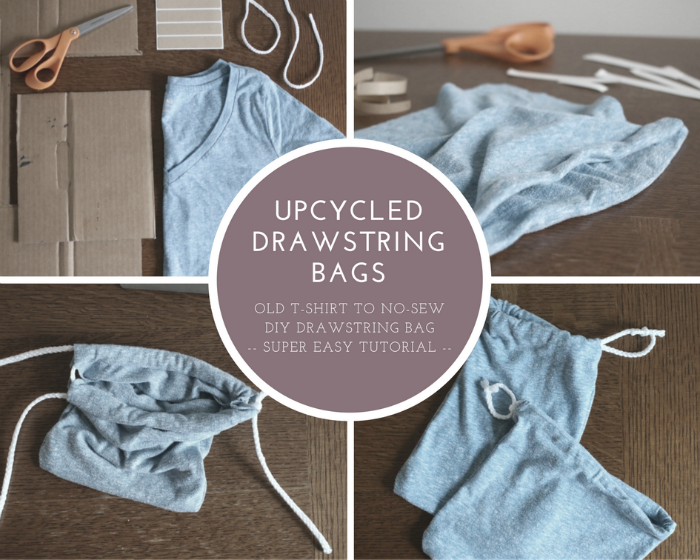 Kids create how to make your own no sew drawstring bags for How to put a picture on a shirt diy