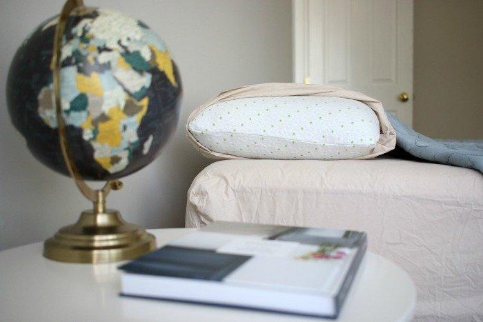 viscosoft-ecosoft-memory-foam-pillow-in-simple-guest-bedroom