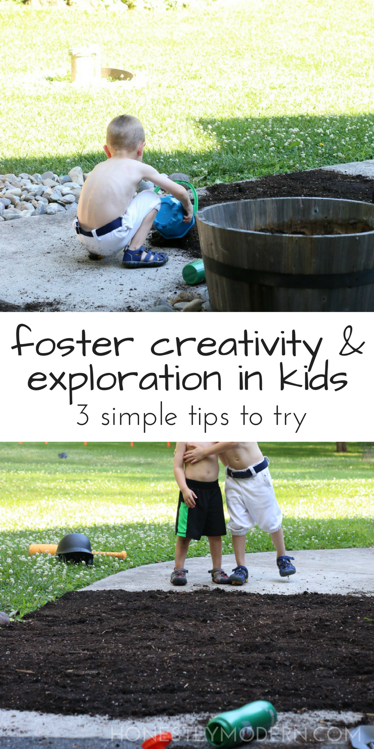 Simple toys and materials foster independent and creative play for kids. As parents, we might be surprised how liberating it feels to skip the fancy toys and allow our children to explore their own imaginations.