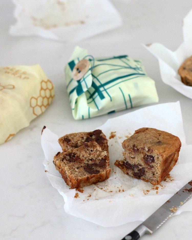 Simply Relish | Bee's Wrap Up Mini Chocolate Chip Banana Bread Loaves
