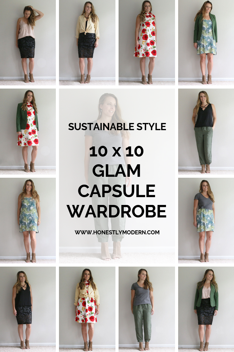 Glam Capsule 10x10 style challenge summary