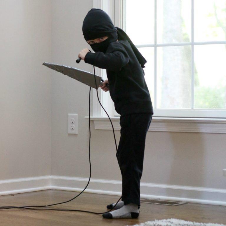 Easy Kids Ninja Costume Made At Home for Halloween