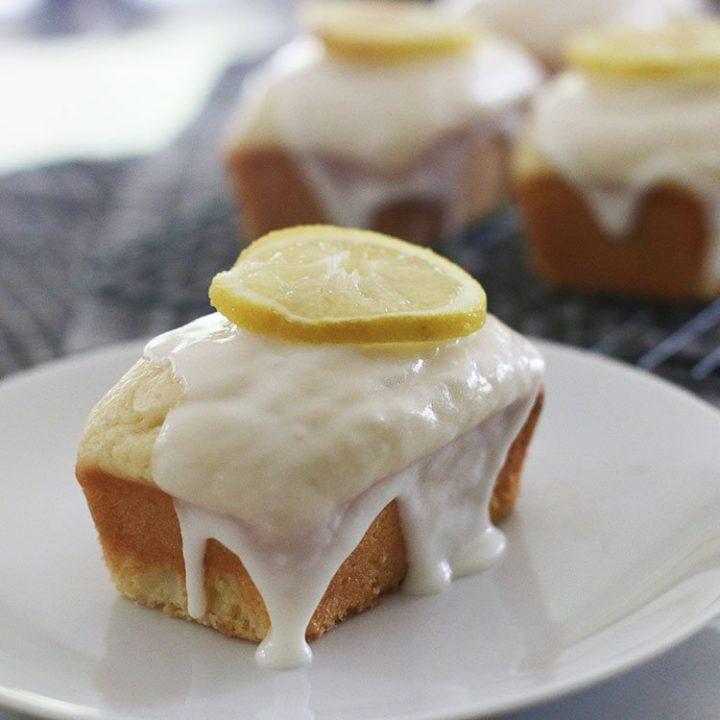 Mini Lemon Loaf Cake With Lemon Icing