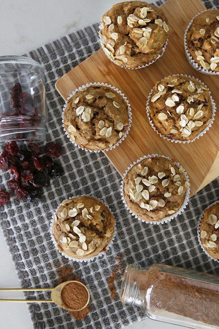 Low Waste Baking | Pumpkin Cherry Muffins