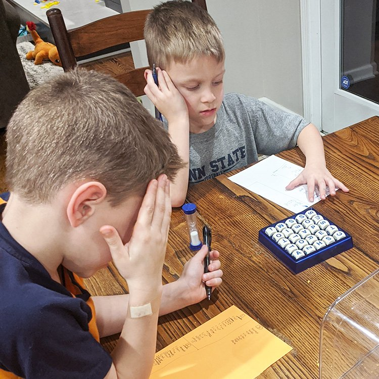How We Modify Boggle For Family Game Night