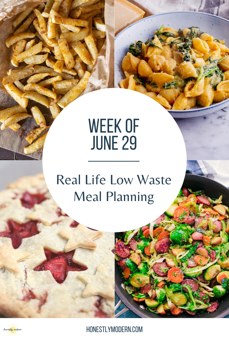 Real Life Low Waste Meal Planning   June 29