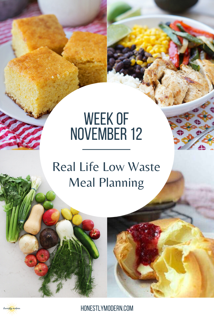 Real Life Low Waste Meal Plan With Guests   Nov 12