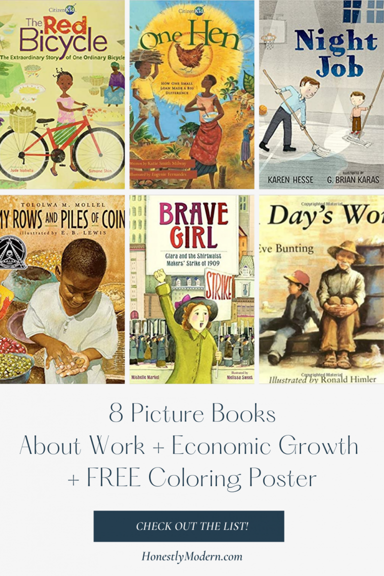 Decent Work + Economic Growth | Picture Book List For United Nations Sustainable Development Goal #8