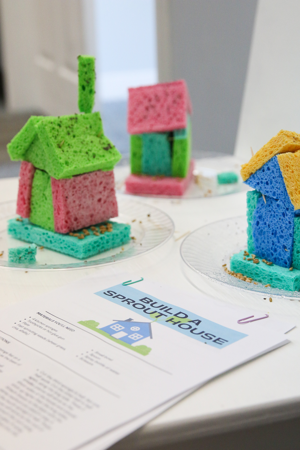 build a sprout house instructions next to complete sponge sprout houses