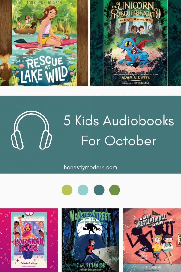 5 Kids Audiobooks For October